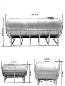 Емкости для питьевой воды из нержавеющей стали 0,5 - 15 м3