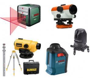 Оптический нивелир, лазерный уровень, лазерная рулетка в аренду