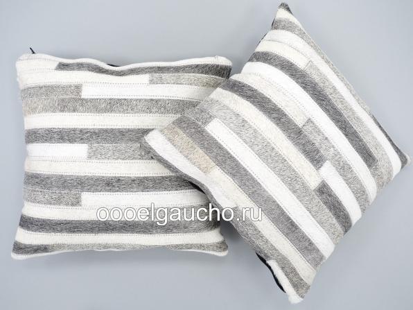 Декоративные чехлы на подушки из шкуры коров, лисы и чернобурки