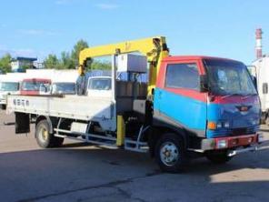 Услуга Кран-манипулятор в Домодедово Hino Ranger Аренда грузовика Hino
