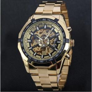 Мужские часы скелетоны Winner Luxury Gold с тахиметром за 2990 руб