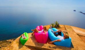 Надувной диван Lamzac (розовый)