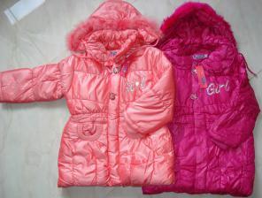 Зима-осень. Пальто для девочки.