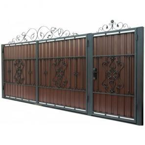 Изготовление ворот из профнастила, ворота кованные, калитки