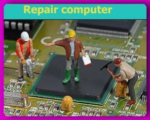Сложный ремонт персональный компьютеров, с заменой чипа и видеоматрицы