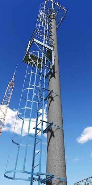 Лестница вертикальная ТС-40 с ограждением