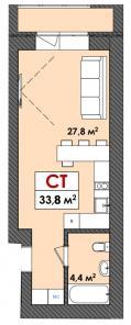Недорогие 1 комн квартиры студии в ЖК Олимпия г. Тюмень