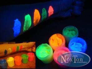 Светящаяся краска для внутренних работ, светится автономно в темноте