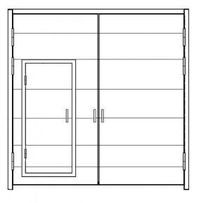 Ворота распашные ВРК 3,6х3,6-УХЛ1,  по типу серии 1.435.2-28