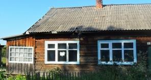 Деревянный дом на 2 половины, вода проведена в дом, газ привозной, печ
