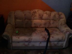Химчистка обивки дивана, тканевая обивка