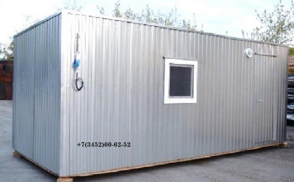 Строительная бытовка 6,0 м х 2,45 м за 81400 рублей.