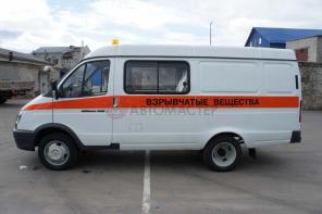 Автомобиль для перевозки взрывчатых материалов на базе ГАЗ-2705