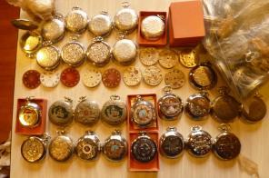 "Часы карманные ""Молния"", корпуса, циферблаты"