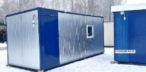 Блок-контейнер 6 м х 2,4 м х 2,5 м на раме.