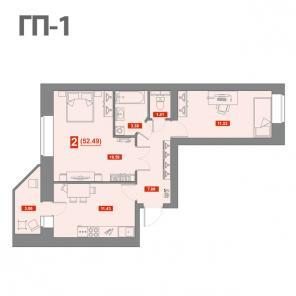 2-х комнатная квартира по ул. Тимофея Чаркова в ЖК Звездный город