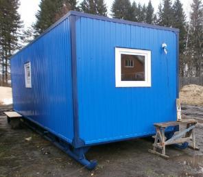 Блок-контейнер 6 м х 2,4 м на санях от производителя.