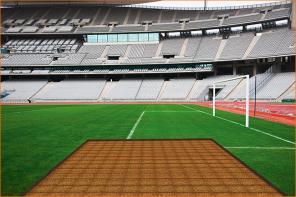 Электрический подогрев спортивной площадки, футбольного поля.