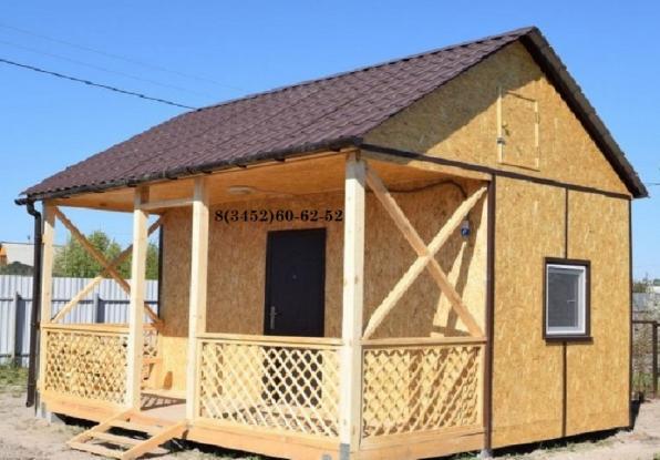 Дачный каркасный дом 5 м х 4,5 м х 4 м.