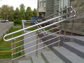 Лестничные ограждения, перила. инвалидные поручни из нержавеющей стали