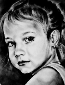 Детские портреты с фото карандашом заказать