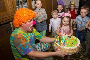 Клоун Бублик на детский день рождения