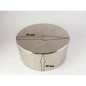 Неодимовый магнит - шайба D70*H30