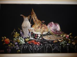 Продается Картина ручной работы вышитая по технике гладь