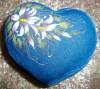 Красивая шкатулка синяя с цветком, новая-16руб