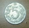 Продам монету Чехословакии 1962г. номиналом 5 геллеров.