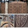 Кованые ворота, из профлиста, распашные, из профнастила