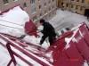 Уборка снега и наледи с крыш в Астане